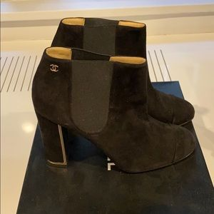 Chanel suede booties